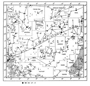 Подробные карты звёздного неба